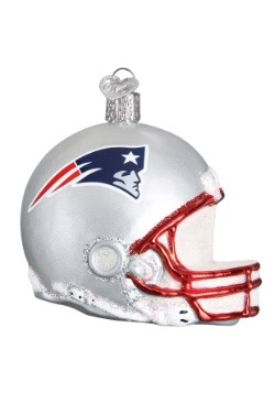 New England Patriots Glass Helmet Ornament