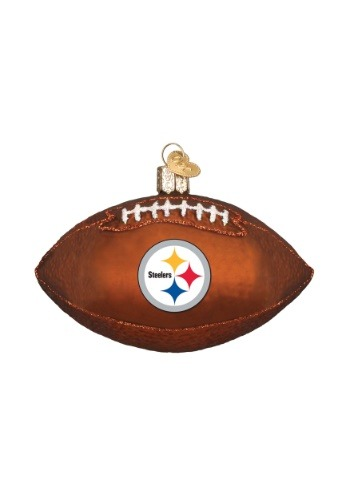 Pittsburgh Steelers Glass Football Ornament