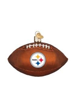 Pittsburgh Steelers Glass Football Ornament