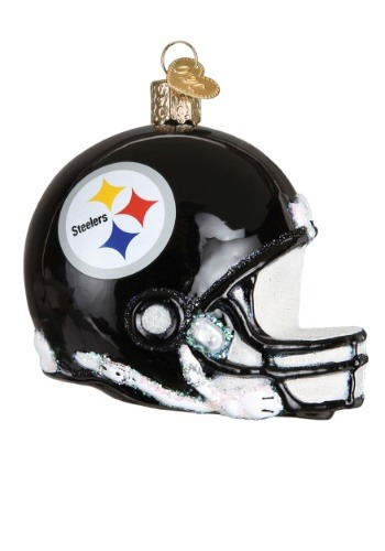 Pittsburgh Steelers Glass Helmet Ornament
