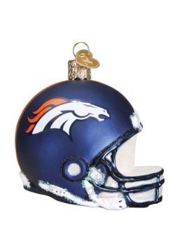 Denver Broncos Glass Helmet Ornament