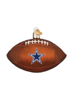 Dallas Cowboys Glass Football Ornament