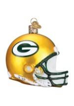 Green Bay Packers Glass Helmet Ornament