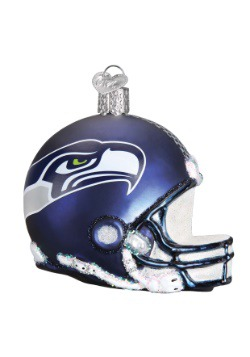 Seattle Seahawks Glass Helmet Ornament