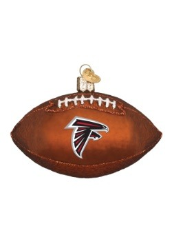Atlanta Falcons Glass Football Ornament