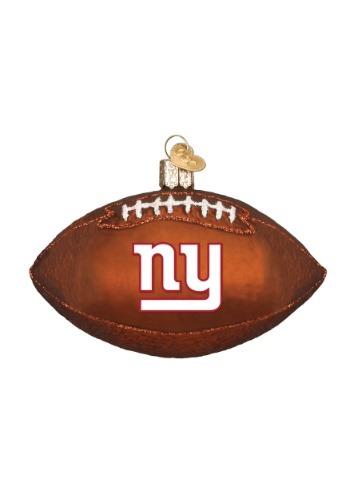 New York Giants Glass Football Ornament