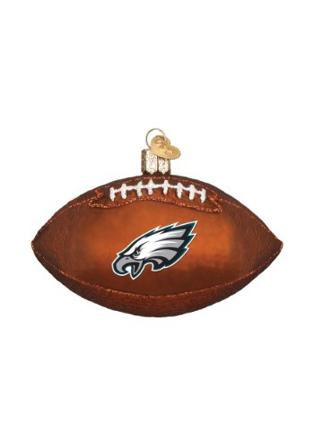 Philadelphia Eagles Glass Football Ornament