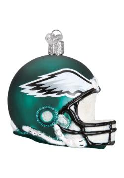 Eagles Helmet Glass Ornament
