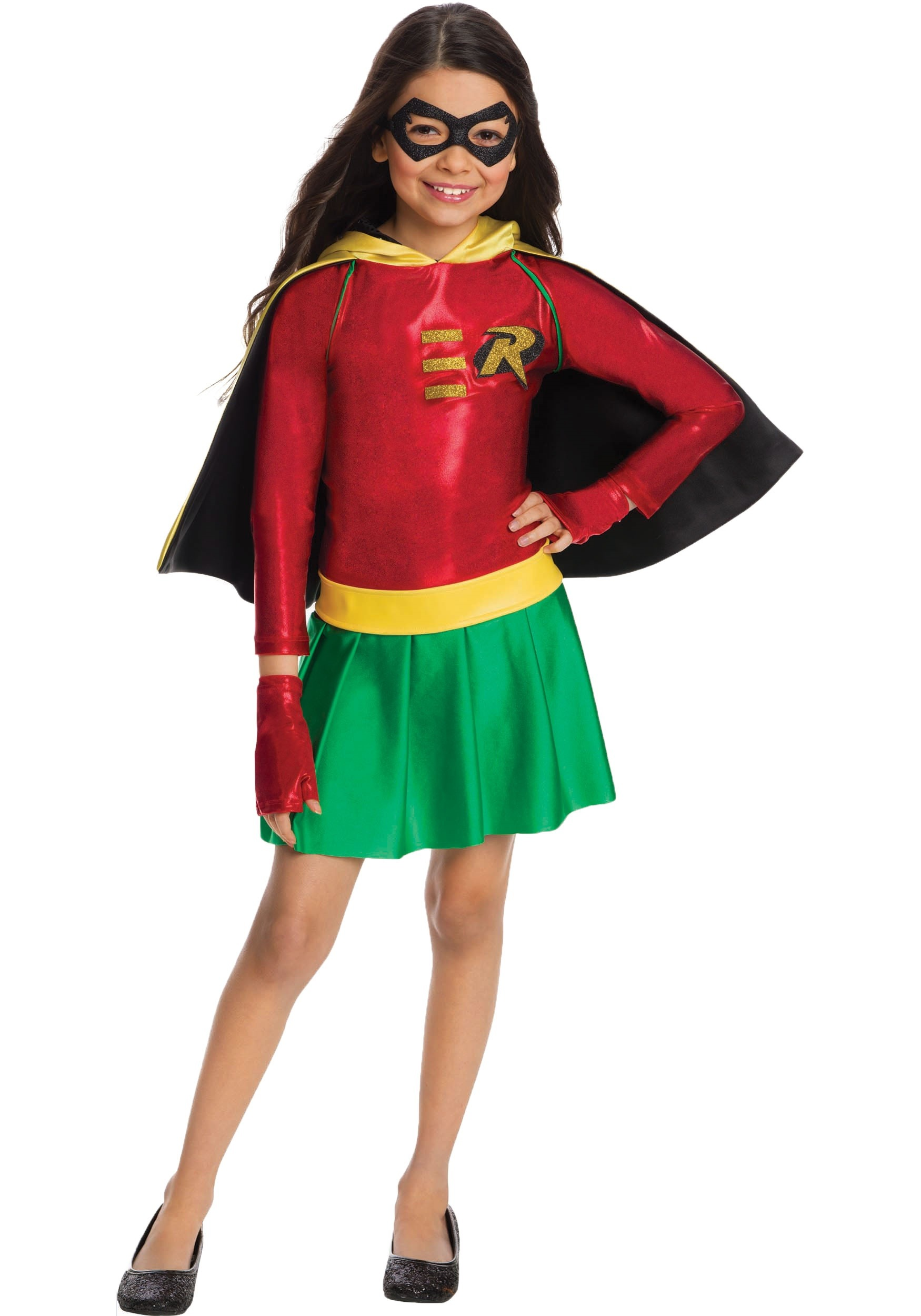 Girls Robin Dress Fancy Dress Costume