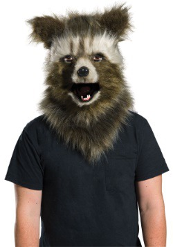 Rocket Raccoon Movable Jaw Faux Fur Mask