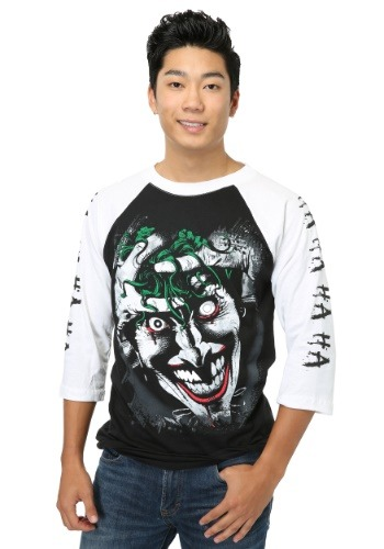 Killing Joke Joker Raglan Mens Shirt