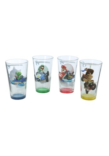 Mario Kart Character Pint Glass 4 Pack