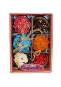 Cupcake 6pc Foam Ornament Set