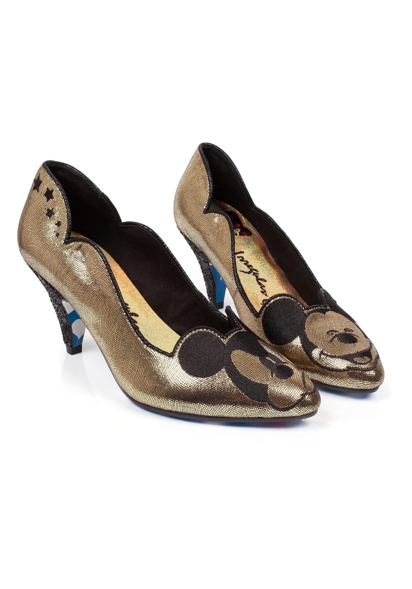 04334ff959f Irregular Choice Disney Glitzy Mickey Mid Heels