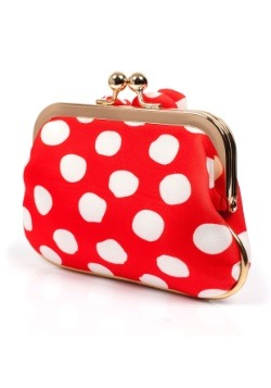 Disney Minnie Mouse Red Polka Dot Coin Purse