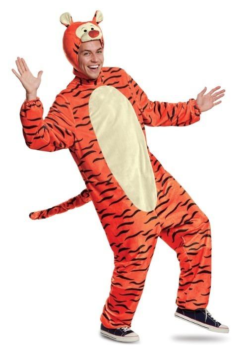 Tigger Deluxe Adult Costume Alt 1