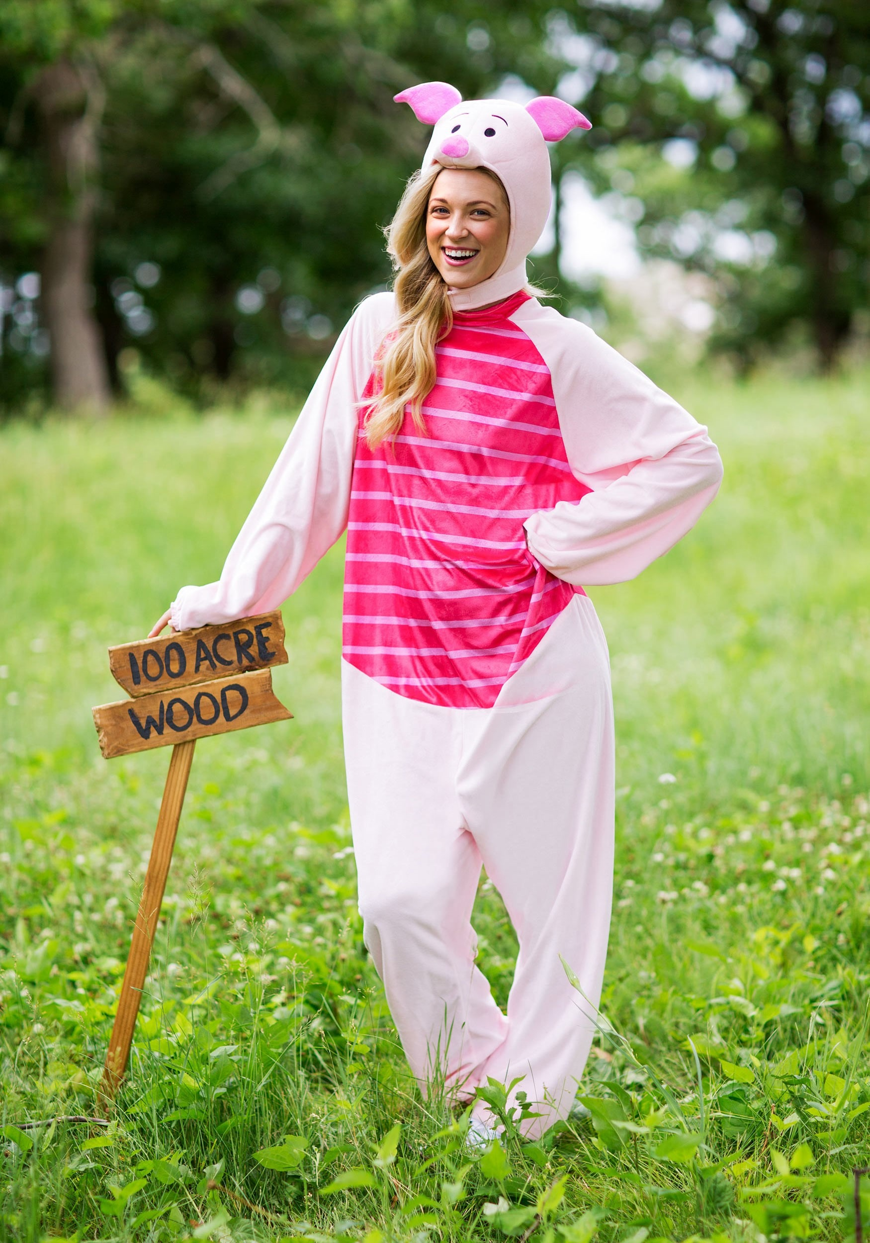 Deluxe piglet costume for adults piglet deluxe adult costume solutioingenieria Image collections