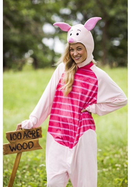 Piglet Deluxe Adult Costume Alt 2