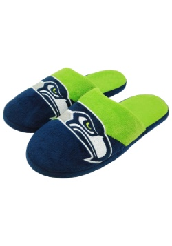 NFL Seattle Seahawks Colorblock Slide Slippers