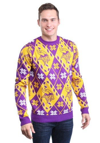Minnesota Vikings Candy Cane Sweater