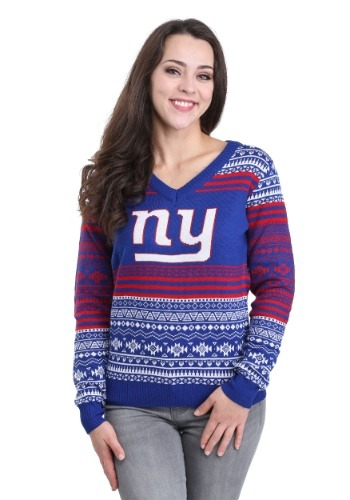 New York Giants Big Logo Aztec Sweater