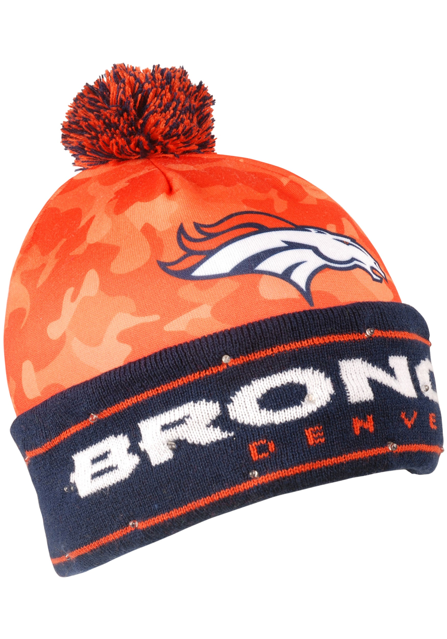 NFL Denver Broncos Camouflage Light Up Stocking Hat 55a2fee7a21