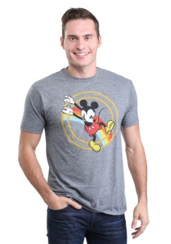 Mickey Mouse Retro Rainbow Jump Men's Tee