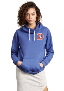 Denver Broncos Sunday Cowl Neck Women's Hoodie