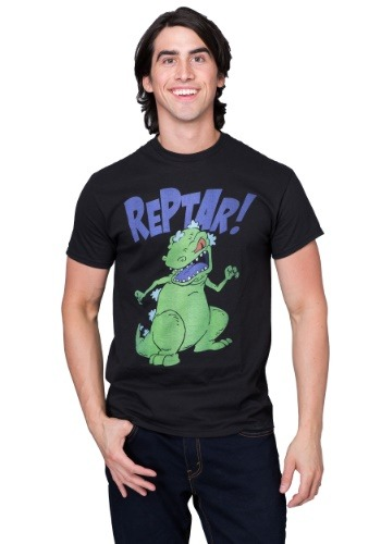 Rugrats Reptar! Mens Black T-Shirt