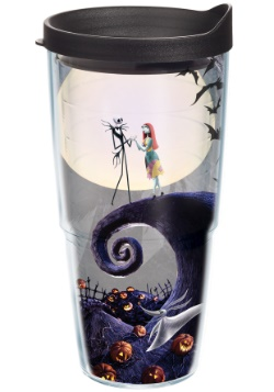 Nightmare Before Christmas 24 oz Tumbler w/ Black Lid