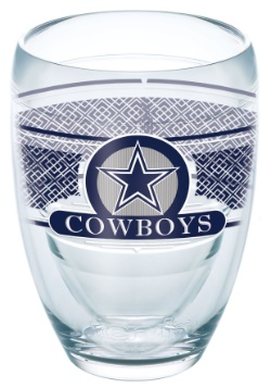 Dallas Cowboys 9 oz Stemless Wine Glass