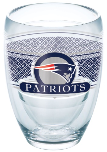 New England Patriots 9 oz Stemless Wine Glass