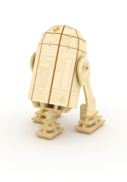 Star Wars R2-D2 3D Wood Model & Booklet