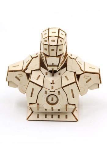 Iron Man Bust 3D Wood Model & Booklet
