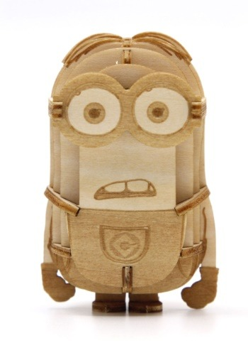 Minion Dave 3D Wood Model & Booklet