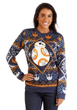 Star Wars BB8 Navy Ugly Christmas Sweater