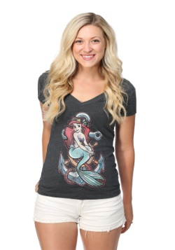Ariel Anchor Juniors V-Neck Tee