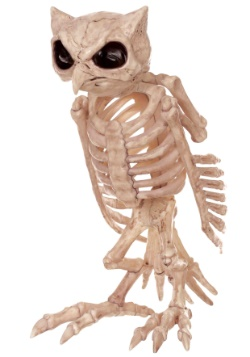 Owl Skeleton Halloween Decoration