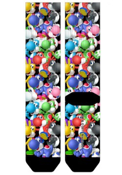 Super Mario Yoshi All Over Print Sublimated Socks