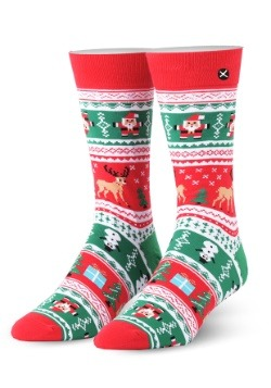 Christmas Sweater Knit Odd Sox