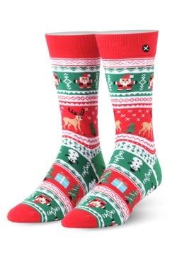 Christmas Sweater Knit Odd Sox