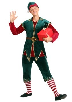 Men's Deluxe Holiday Elf Costume