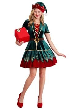 Women's Deluxe Holiday Elf Costume