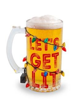 Let's Get Lit Beer Glass