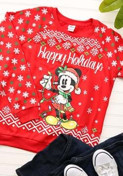 a36f4a9135 Mickey Mouse Happy Holidays Juniors Light Up Sweatshirt