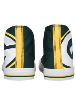 Green Bay Packers High Top Big Logo Canvas Shoes Alt 3