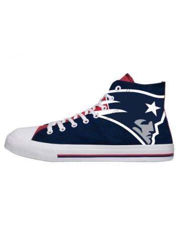 New England Patriots High Top Big Logo Canvas Shoes