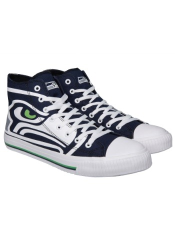 Seattle Seahawks High Top Big Logo Canvas Shoes