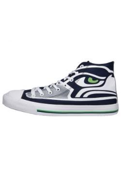 Seattle Seahawks High Top Big Logo Canvas Shoes Alt 1