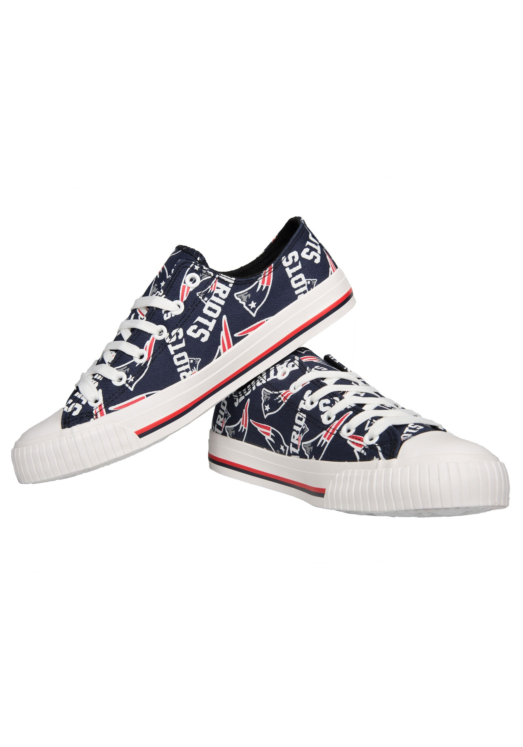 bbb490f67339c New England Patriots Low Top Women's Canvas Shoes